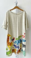 GRANIPH Design TShirts Store Tunic Dress Jungle Animals Teacher Pockets S M L OS