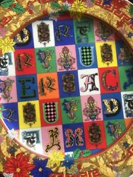"""Versace Wall Plate Christmas 2019 Rosenthal New Collectible Limited 12"""" / 30cm"""
