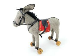Antique German Near Mint Steiff Donkey Pull Toy Ca1910