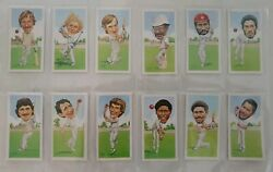 Full Set Plus David Gower Cricket Signed In Person 1985 Texaco Trophy Cards