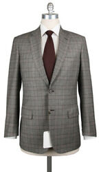 6300 Brioni Brown Wool Blend Plaid Suit - 40/50 - Colosseo2257121442r