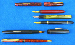 Vintage Mixed Lot Unique And Unusual Pen And Fountain Pens Estate Old Asis Yj