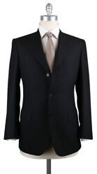New 6300 Brioni Black Super 150and039s Solid Suit - 38/48 - Br9711103r