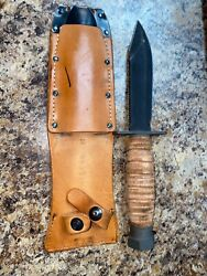 Ontario 5-99 Pilot Survival Knife With Scabbard Collectors Item