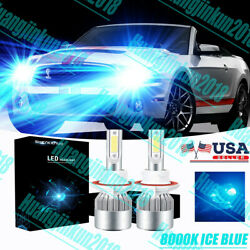 8000k H13 For Ford Mustang 2005-2012 High And Low Beam 100w Led Headlight Bulbs