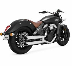 Vance And Hines Twin Slash Slip-ons For Indian - 3 Inch - Chrome - 18623