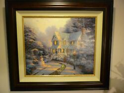 100 Offthomas Kinkade The Night Before Christmas 20 X 24 Le S/n Canvas