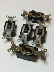 Lot Of 5 Leviton Quiet 4-way 15a Commercial Tumbler Switch 5504 Nos