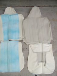 Nos 1970-72 Volkswagen Beetle Padded Front Seat Covers Off-whitelt.grey Vw Bug