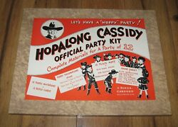Hopalong Cassidy Official Party Kit Western Toy Rare 99.9 Complete Near Mint