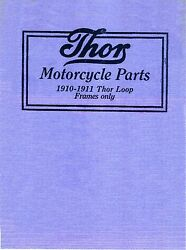 1910-1911 Thor Motorcycle Parts Book In .pdf Format On Cd Antique Reproduction