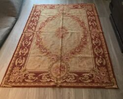 Two Chinese Needlepoint Rugs 6and039x4and039 And 5x3and039 Same Pattern 100 Wool