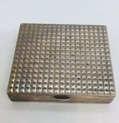 Antique French Sterling Silver Double Dual Compact Case Box