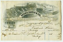 Billhead Andndash Parke Davis And Co. Andndash Handsomely Illustrated Of Ny And Detroit Locations
