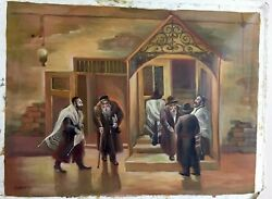 Oil Painting By D.levy Artist Judaica Jewish Israel