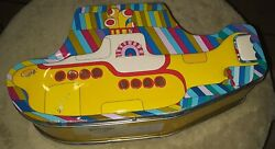 9.5 X 5 The Beatles Yellow Submarine Metal Tin Tote Lunchbox Collectible