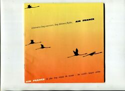 Vintage Air France Airlines Route Map Booklet Long Distance Flights 1964