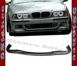Hm Style Cfrp Carbon Fiber Drill On Front Lip For 96-03 E39 M5 Stock Bumper Only
