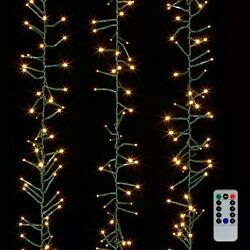 Raz Imports Cluster Garland Mini Lights With Remote, Timer Function, And 8 Modes