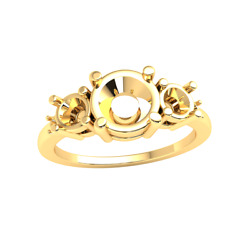 5-stone Engagement Ring Setting For Women 14k Gold - Private Listing
