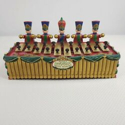 Vintage 1996 Mr. Christmas Merry Music Makers Toy Soldiers Xylophone Holiday