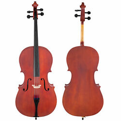Scherl And Roth Hand Crafted Arietta Student 4/4 Cello Outfit With Bag, Rosin, Bow