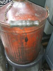 Old Bando Rr Oil Can Baltimore Ohio Railroad Train Wooden Handle With Screw On Cap