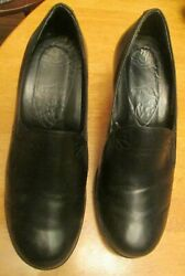 DANSKO BLACK LEATHER DESIGNER SLIP ON 2.5