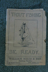 William Mills And Son 1926 Fishing Tackle Catalog Reels, Rods, Leonard, Bamboo