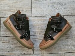 Rare Candice Cooper Leather High-top Monk Strap Sneakers Trainers Eu 40