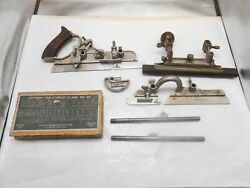 Stanley No. 45 Combination Plane With Full Set Of Cutters