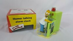 Wesco The Simpsons Homer Talking Alarm Clock With Box 2002 New Clock Batteries