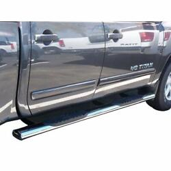 Trail Fx Stainless 5 Oval Nerf Bar For 2004-2015 Nissan Titan Crew Cab