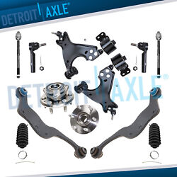 Front Upper Lower Control Arm Wheel Hub Kit For 2007-15 Gmc Acadia Buick Enclave