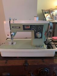 Vintage Dressmaker Sewing Machine-model Number 205 Portable/table Top With Case