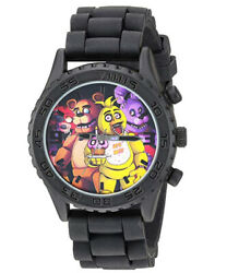 Five Nights at Freddys Black Character Analog Watch With Collectors Tin
