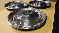 1972 1973 1974 Lincoln - Continental - Town Car Hubcaps - Very Nice Set Of 3