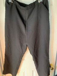 salon studio WOMENS BLACK DRESS PANTS  ADJUSTABLE WAIST.  SIZE XL
