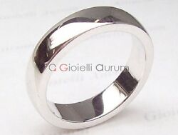 Wedding Rings White Gold 18 Kt. Ring Marriage Profile Convex Pair 2 Pz