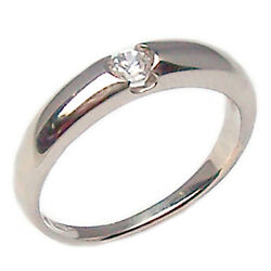 Ring Engagement Solitaire White Gold 18 Kt. with Diamond Faith Money Clip