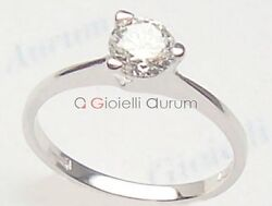 White Gold Solitaire Ring 18 Carats Womenand039s With Diamond 040 Ct. Engagement