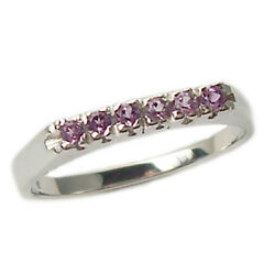 Ring Engagement White Gold 18 Kt. with Amethyst Natural Faith Money Clip