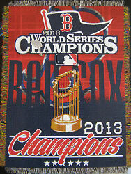 Boston Red Sox 2013 World Series Champions Champs Woven Tapestry Throw Blanket