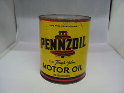 Vintage Pennzoil One Gallon Service Station Oil Can Empty  188-x