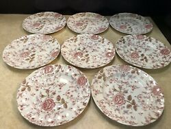 Rose Chintz China Dinner Plate Set Johnson Brothers Green Back Stamp