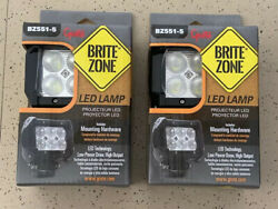 Led Lamps Square Two Pack Lot. 4.2 Inch Tall 1200 Lumens
