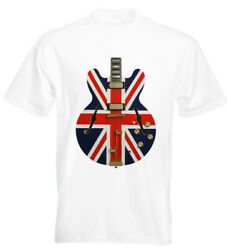 Union Flag Guitar T Shirt Oasis Noel Gallagher Union Jack Madchester Liam
