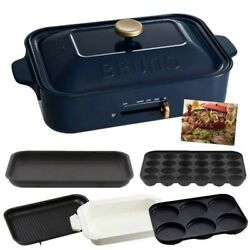 Bruno Compact Hot Flat And Takoyaki And Pan And Grill And Multi Plate Boe021 Navy Boe-21
