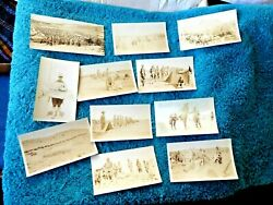 11 Antique Photos 34th Infantry Army New Mexico Fort Cummings Mormon Bones 1918