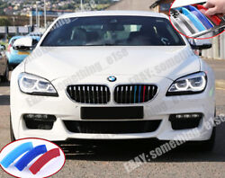 Bmw 6 2015+ F06 F12 F13 Gran Coupe Convertible Grille M Tri-colours Covers Clips